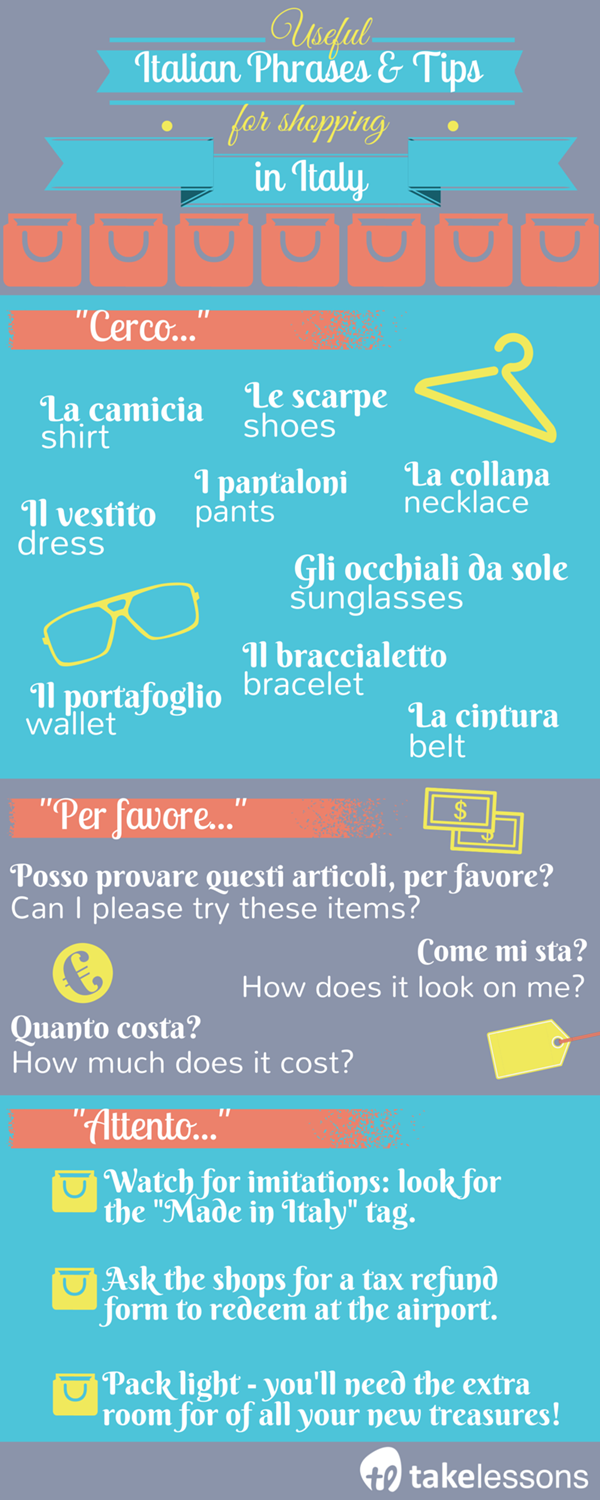 Italian phrases for shopping