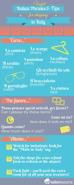 Italian phrases for shopping