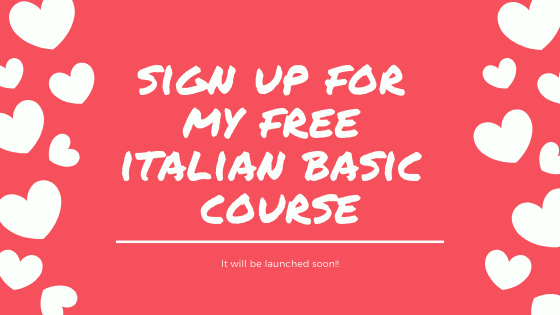 sign up for my free italian basic course