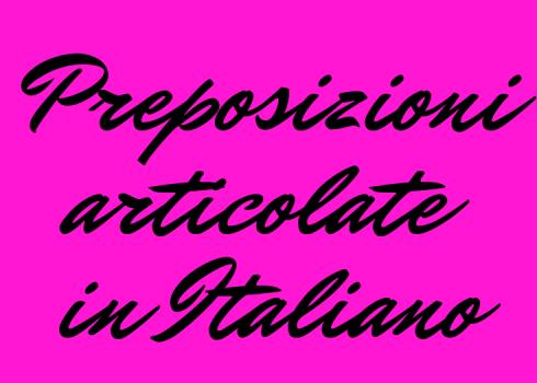 preposizioni articolate in italiano prepositions italian